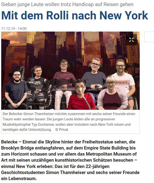 Soester Anzeiger Mit dem Rolli nach New York